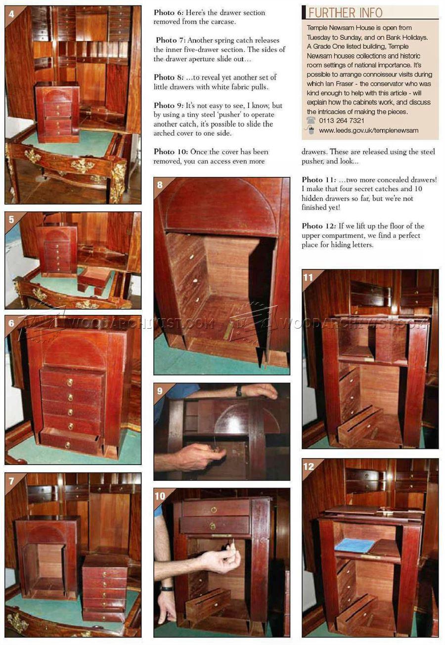 Best ideas about Secret Compartment Furniture DIY . Save or Pin Furniture Secret partments • WoodArchivist Now.