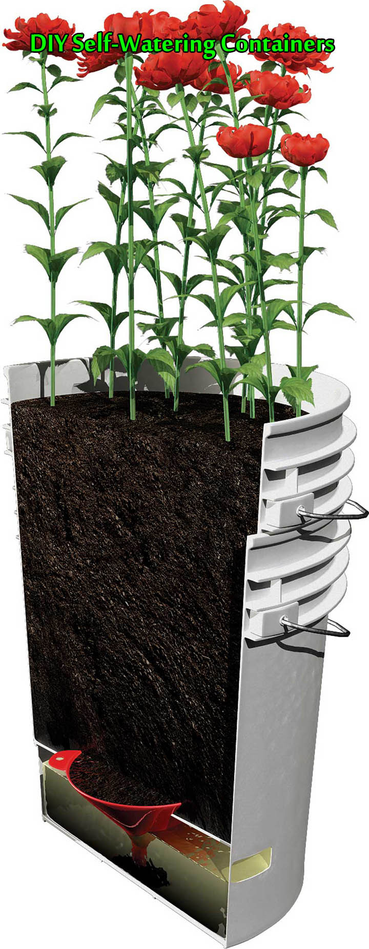 Best ideas about Self Watering Pots DIY . Save or Pin DIY Self Watering Containers Now.