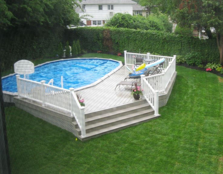 Best ideas about Semi Inground Pools With Deck . Save or Pin 32 best images about Brothers 3 Pools ground semi Now.
