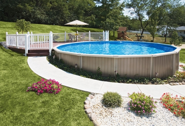 Best ideas about Semi Inground Pools With Deck . Save or Pin Radiant pools – modern technology for better performance Now.