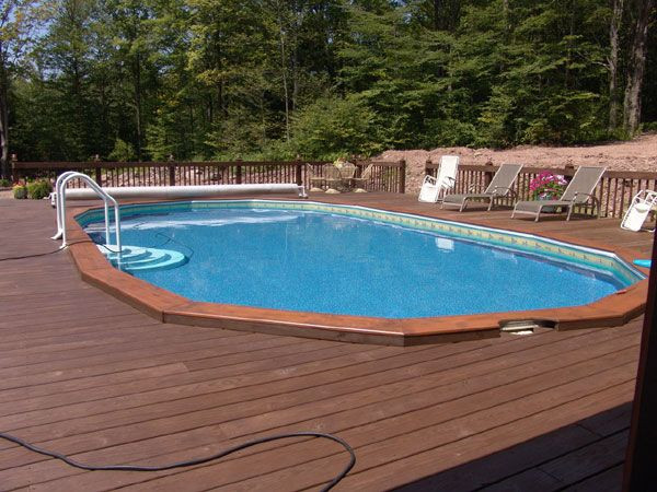Best ideas about Semi Inground Pools With Deck . Save or Pin Semi inground pools Custom decks and Fence on Pinterest Now.