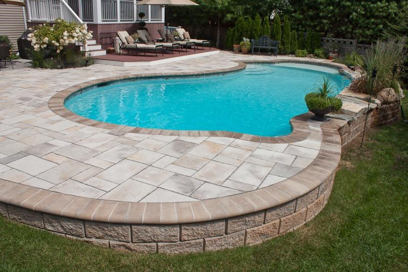 Best ideas about Semi Inground Pools With Deck . Save or Pin Love this pool deck Semi Inground Pools Now.