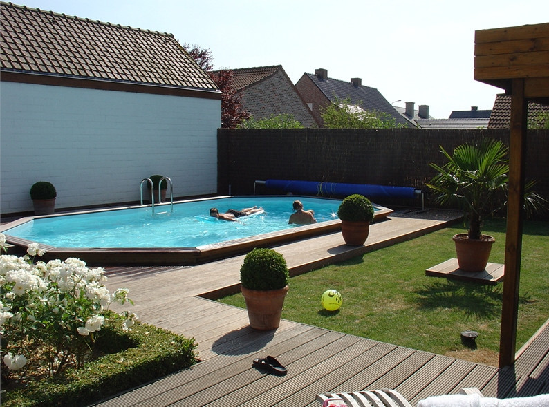 Best ideas about Semi Inground Pools With Deck . Save or Pin Semi Inground Pool Pics Now.