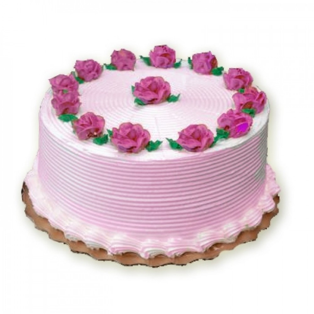 Best ideas about Send Birthday Cake . Save or Pin 1 Kg Strawberry Cake Eggless Now.