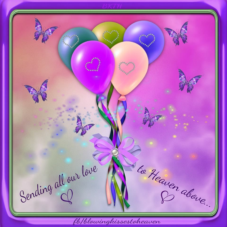 Best ideas about Sending Birthday Wishes To Heaven . Save or Pin Sending Balloons to Heaven filed with Love to my Angel Now.