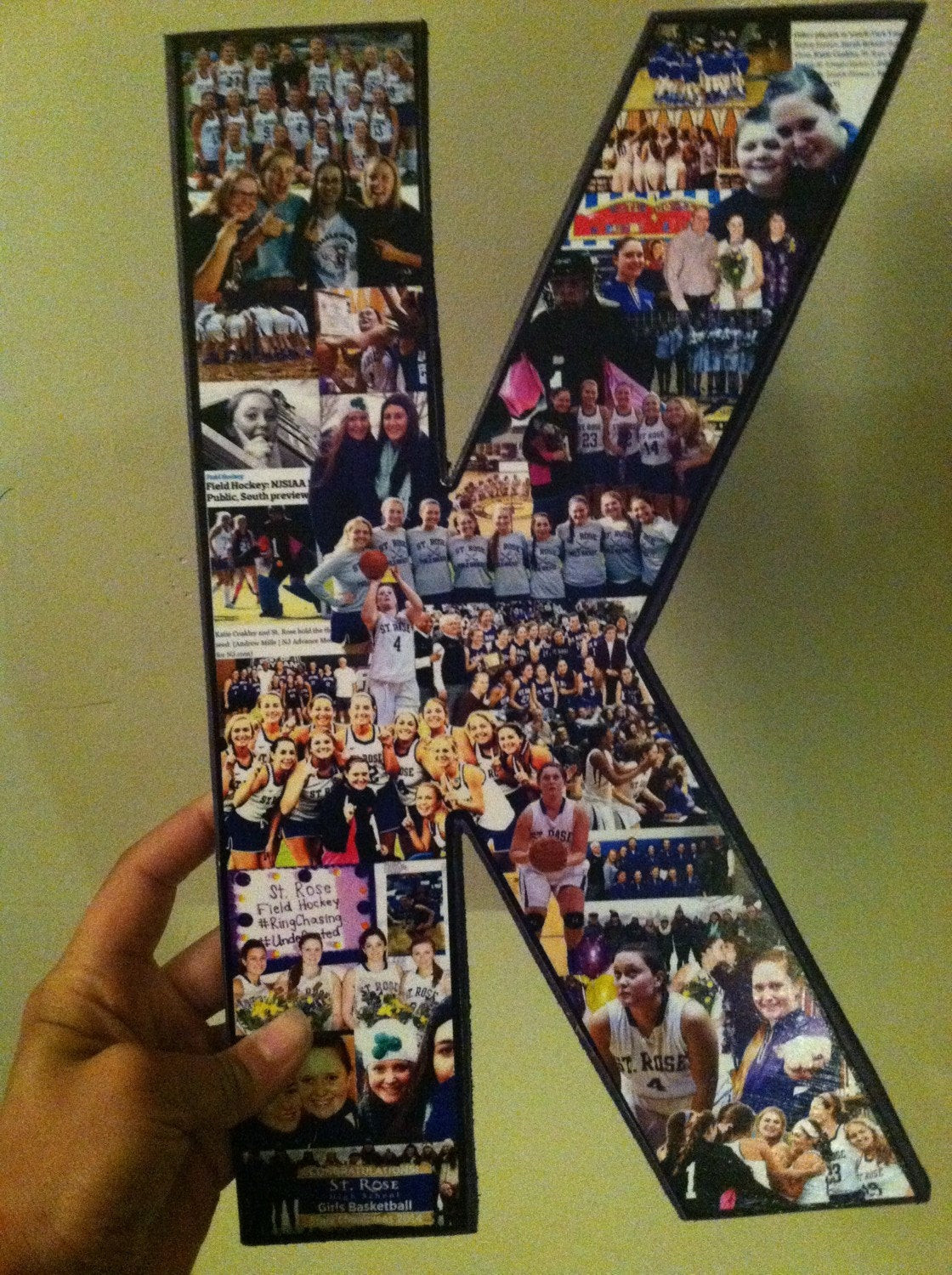 Best ideas about Senior Gift Ideas . Save or Pin Letter photo collage Senior night t softball senior t Now.