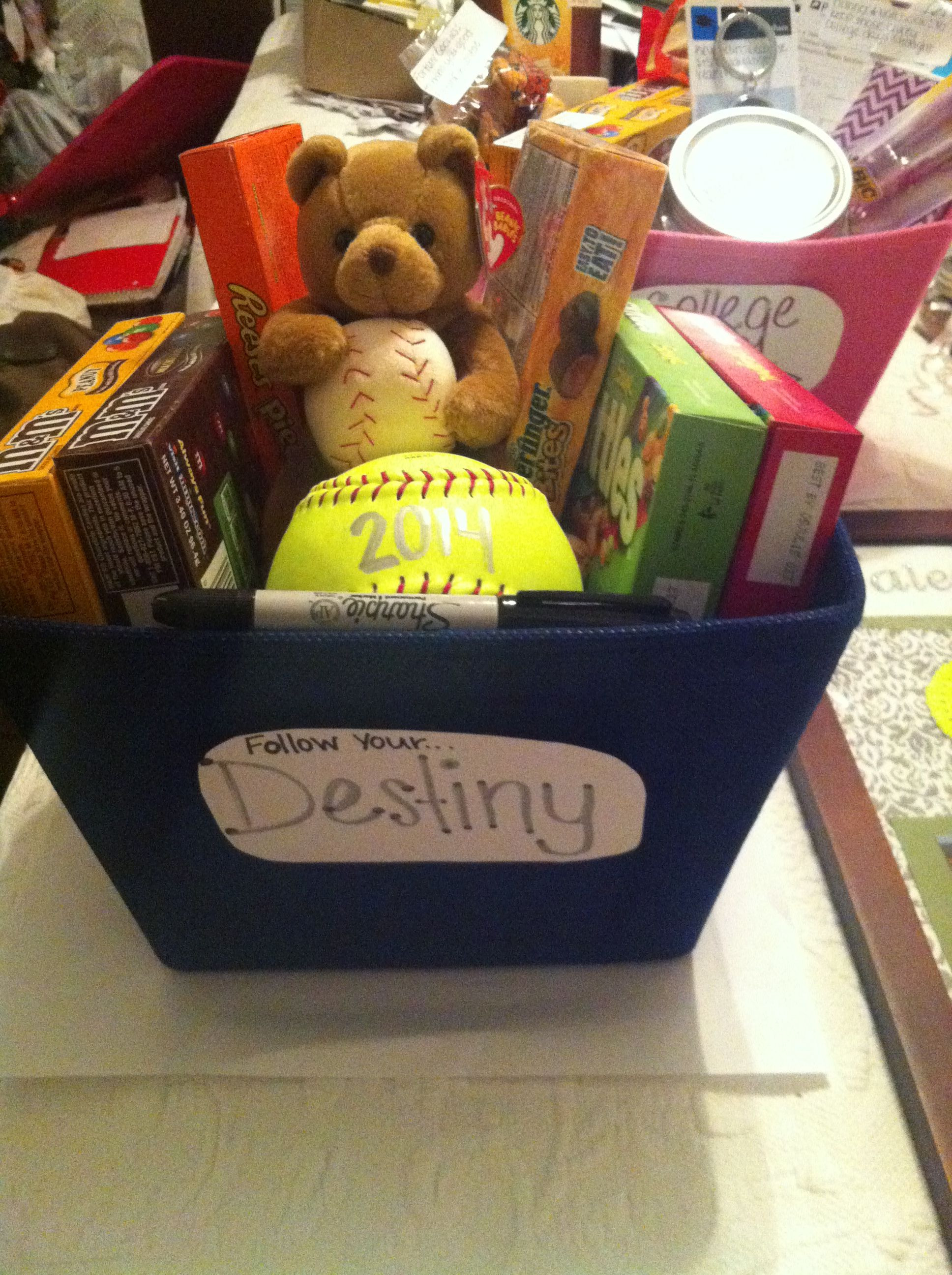 Best ideas about Senior Gift Ideas . Save or Pin Softball senior night t Candy and a ball for the team Now.