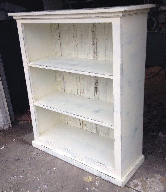 Best ideas about Shabby Chic Bookcase . Save or Pin Bookcase antique white distressed shabby chic by Now.