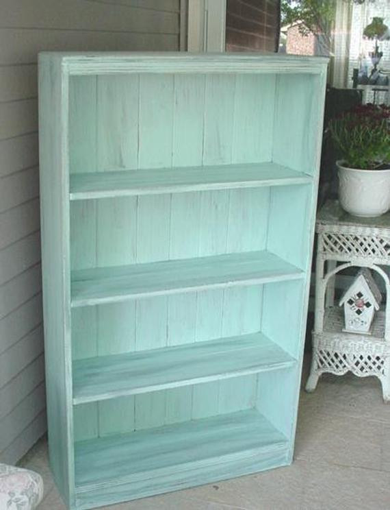 Best ideas about Shabby Chic Bookcase . Save or Pin Vintage Bookcase Shabby Chic French Blue Aqua No 2 Now.