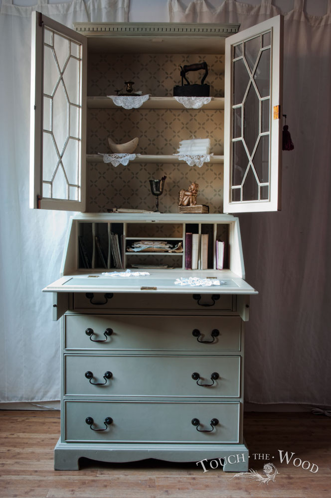 Best ideas about Shabby Chic Bookcase . Save or Pin Shabby Chic Bureau with Bookcase no 17 Touch the Wood Now.