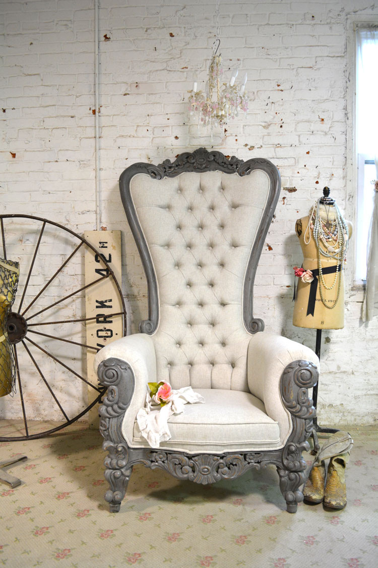 Best ideas about Shabby Chic Chairs . Save or Pin Painted Cottage Chic Shabby French Upholstered Tufted Now.