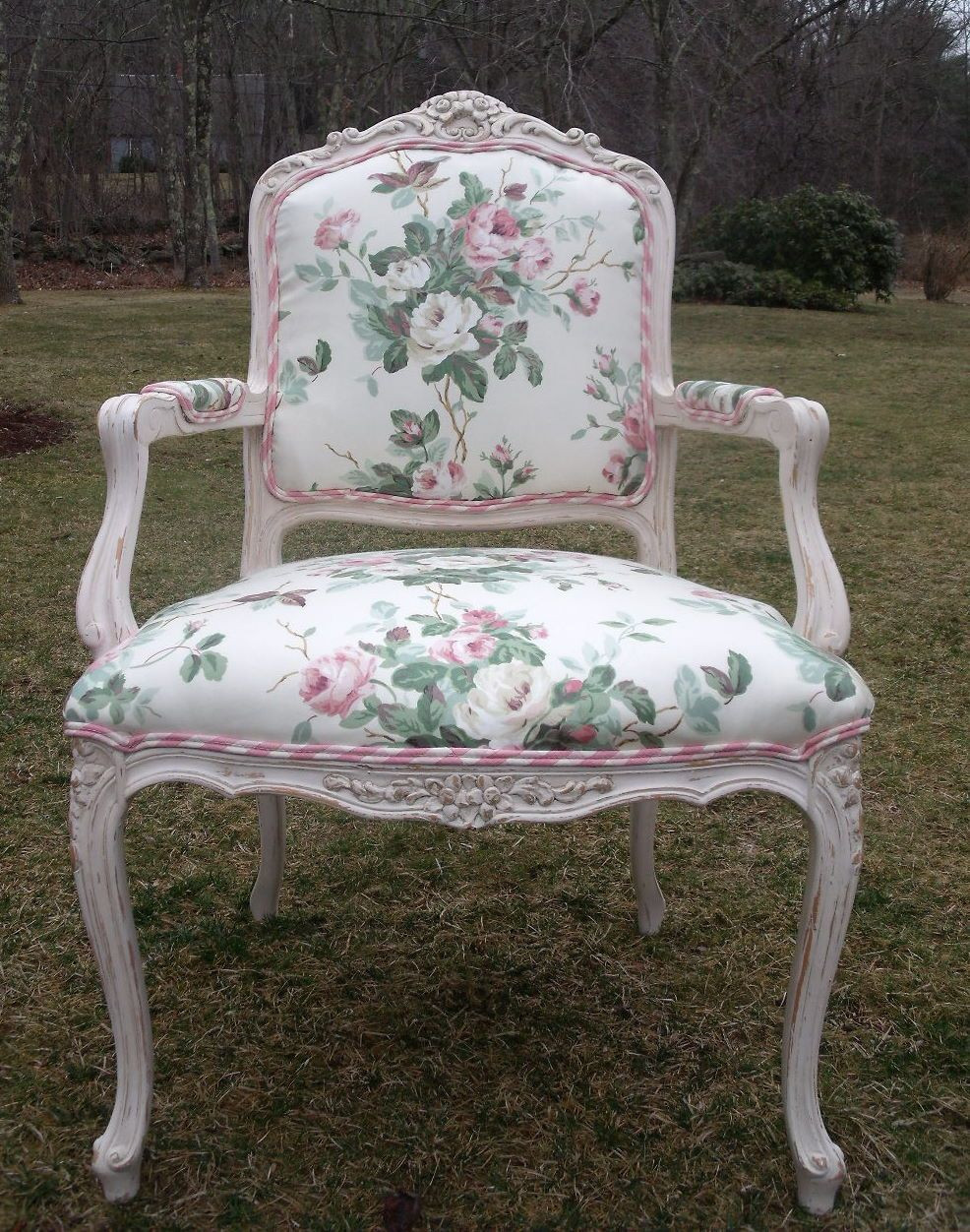 Best ideas about Shabby Chic Chairs . Save or Pin Shabby chic bergere chair in pink chintz and chalk paint Now.