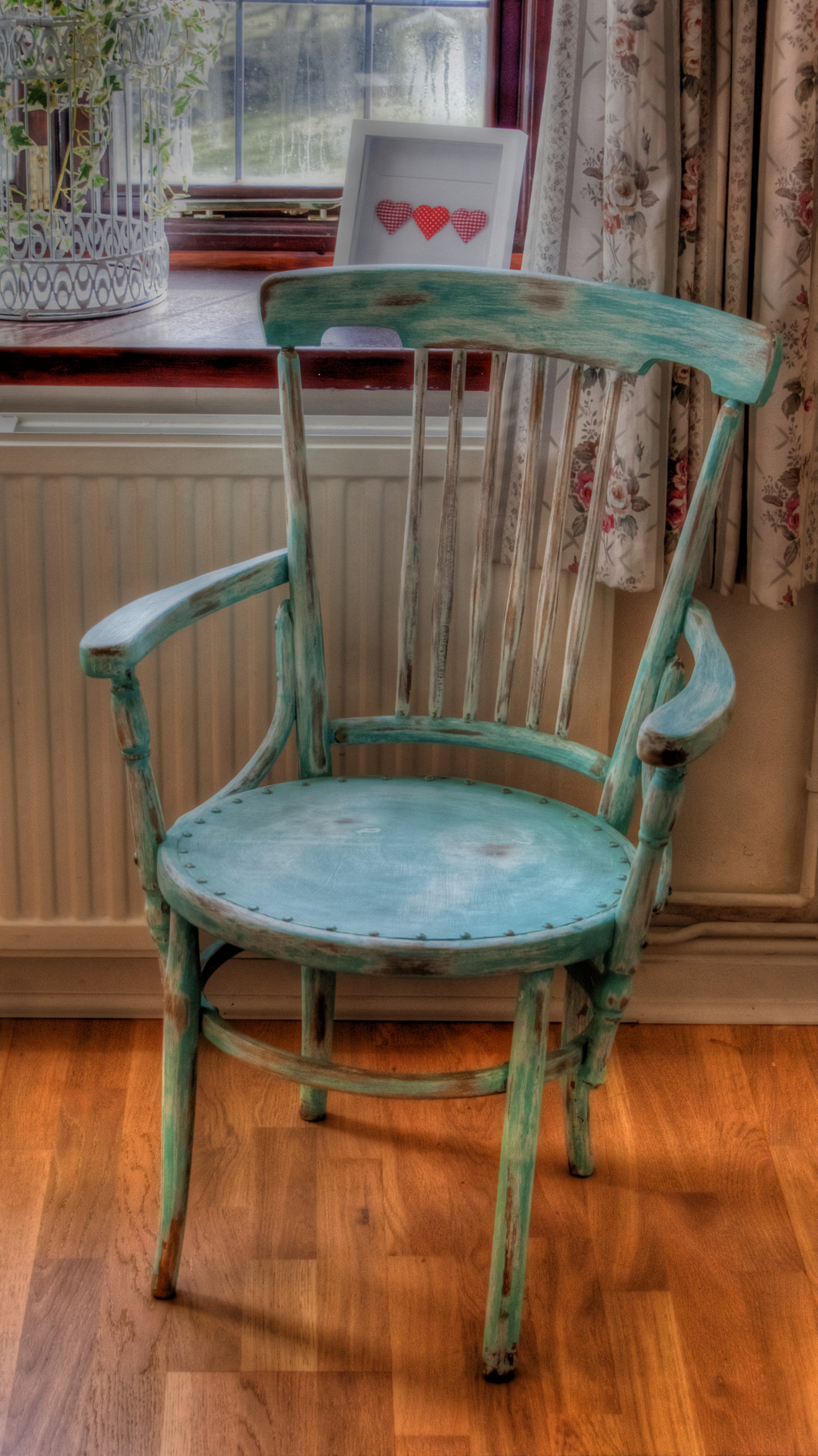 Best ideas about Shabby Chic Chairs . Save or Pin Captain's Chair finally finished Now.
