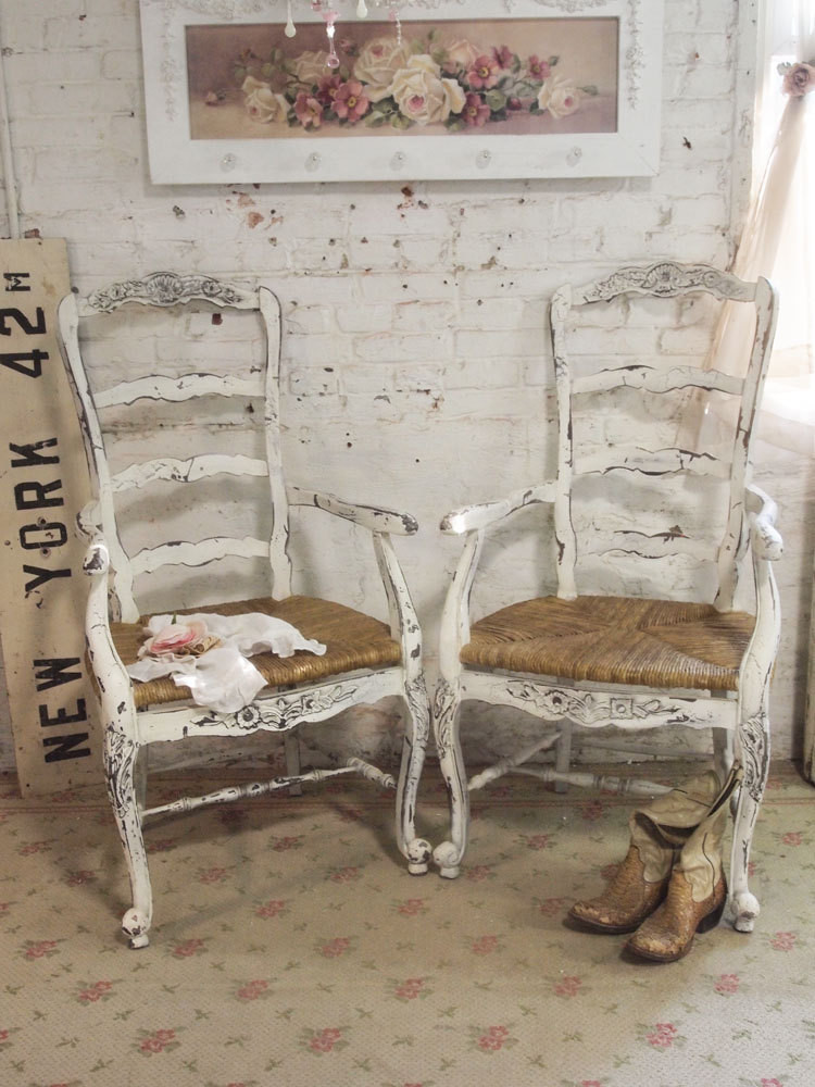 Best ideas about Shabby Chic Chairs . Save or Pin Painted Cottage Chic Shabby Farmhouse Chair by paintedcottages Now.