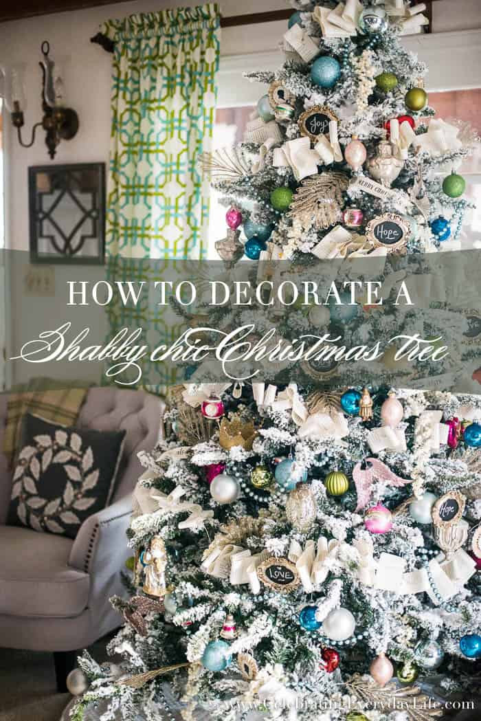 Best ideas about Shabby Chic Christmas Tree . Save or Pin How to Decorate a Flocked Shabby Chic Christmas Tree Now.