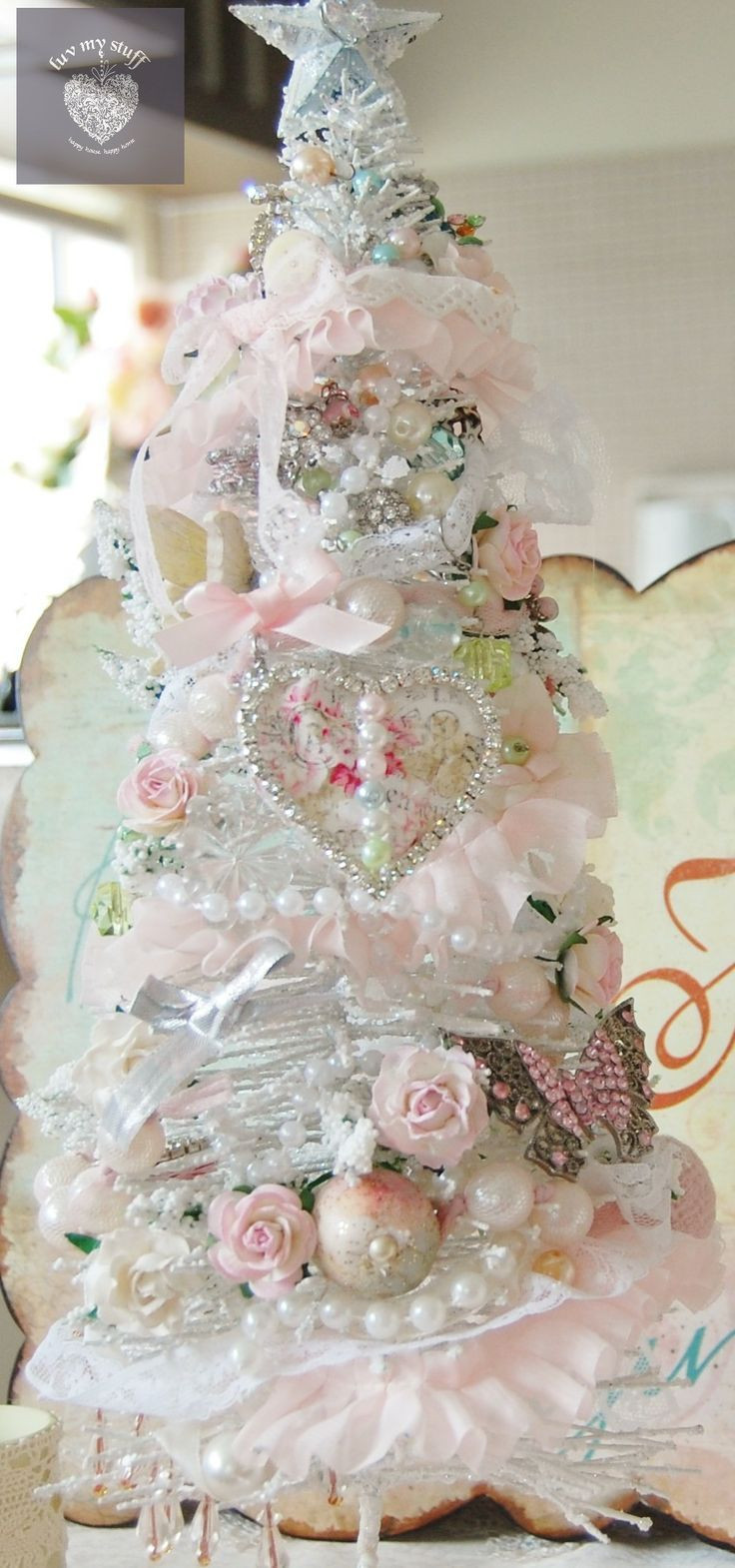 Best ideas about Shabby Chic Christmas Tree . Save or Pin 17 Best images about Shabby Christmas on Pinterest Now.