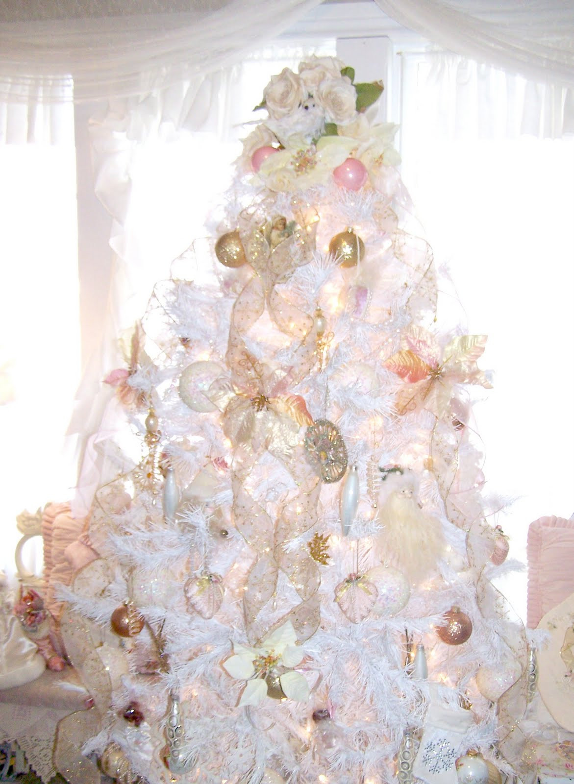 Best ideas about Shabby Chic Christmas Tree . Save or Pin Olivia s Romantic Home Shabby Chic White Christmas Tree Now.