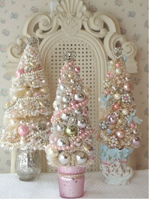 Best ideas about Shabby Chic Christmas Tree . Save or Pin Shabby Chic Mini Christmas Trees Trees s Now.