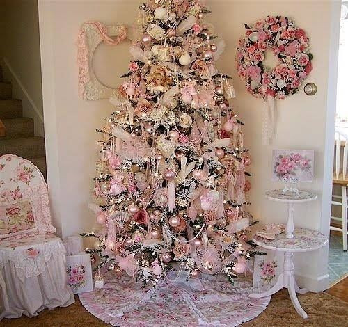 Best ideas about Shabby Chic Christmas Tree . Save or Pin Pink Shabby Chic Christmas Tree s and Now.
