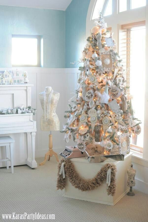 Best ideas about Shabby Chic Christmas Tree . Save or Pin Pinterest Now.