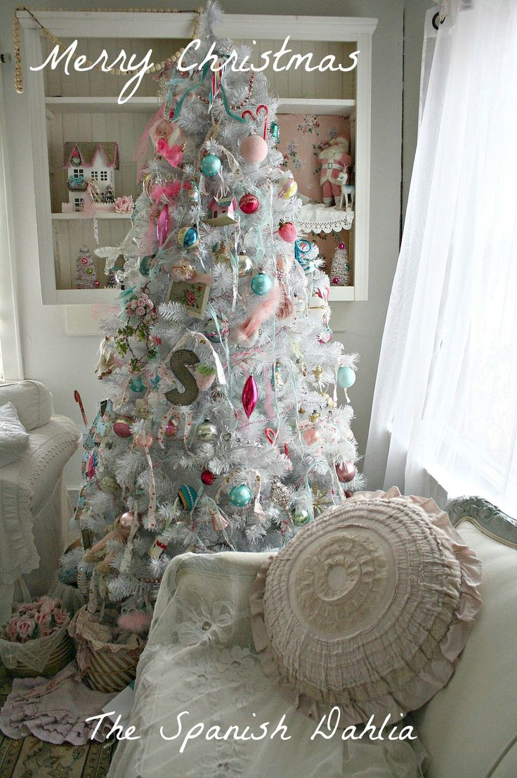 Best ideas about Shabby Chic Christmas Tree . Save or Pin My white Shabby Chic Christmas tree 2012 Now.