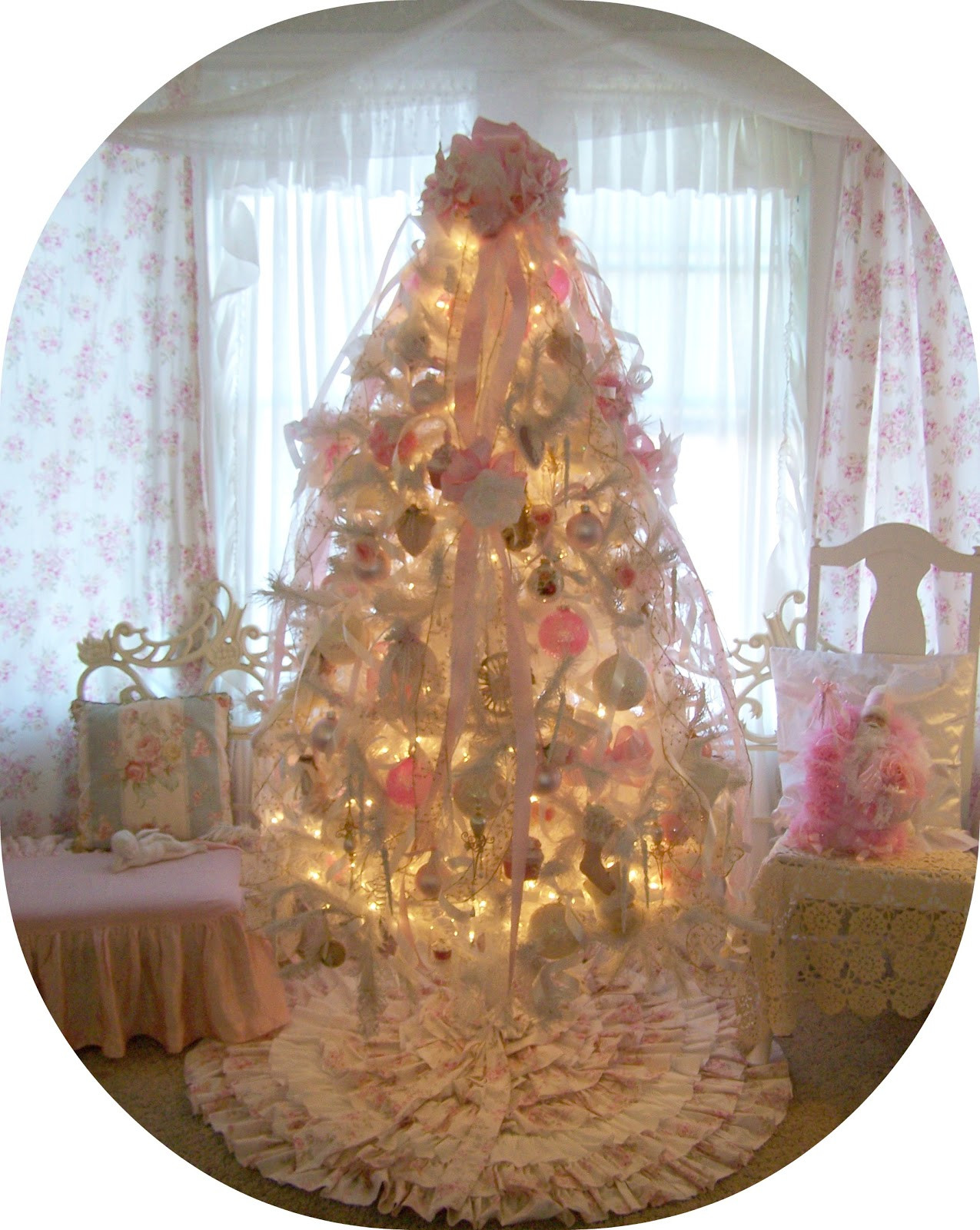 Best ideas about Shabby Chic Christmas Tree . Save or Pin Olivia s Romantic Home My Shabby Chic Pink Christmas Home Now.