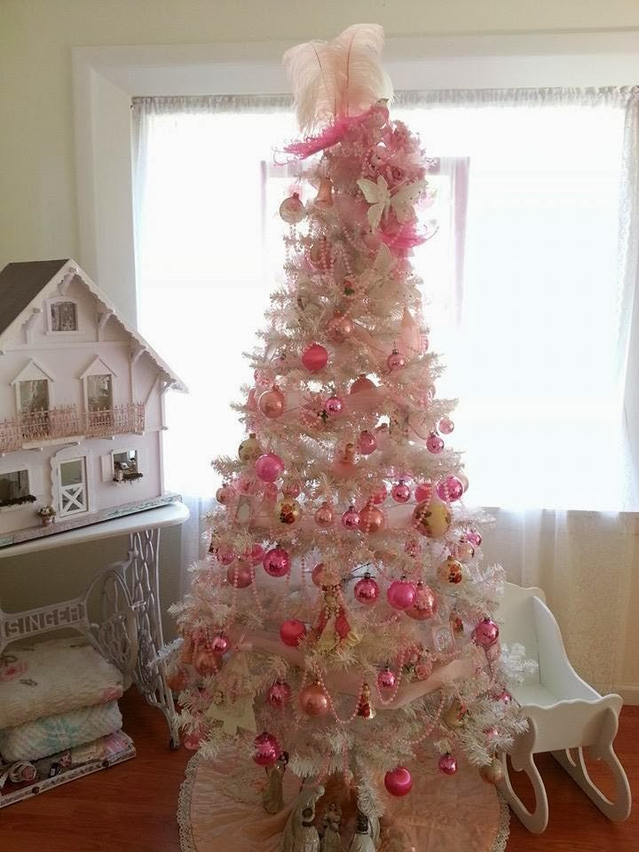 Best ideas about Shabby Chic Christmas Tree . Save or Pin Olivia s Romantic Home Shabby Chic Pink Christmas Now.