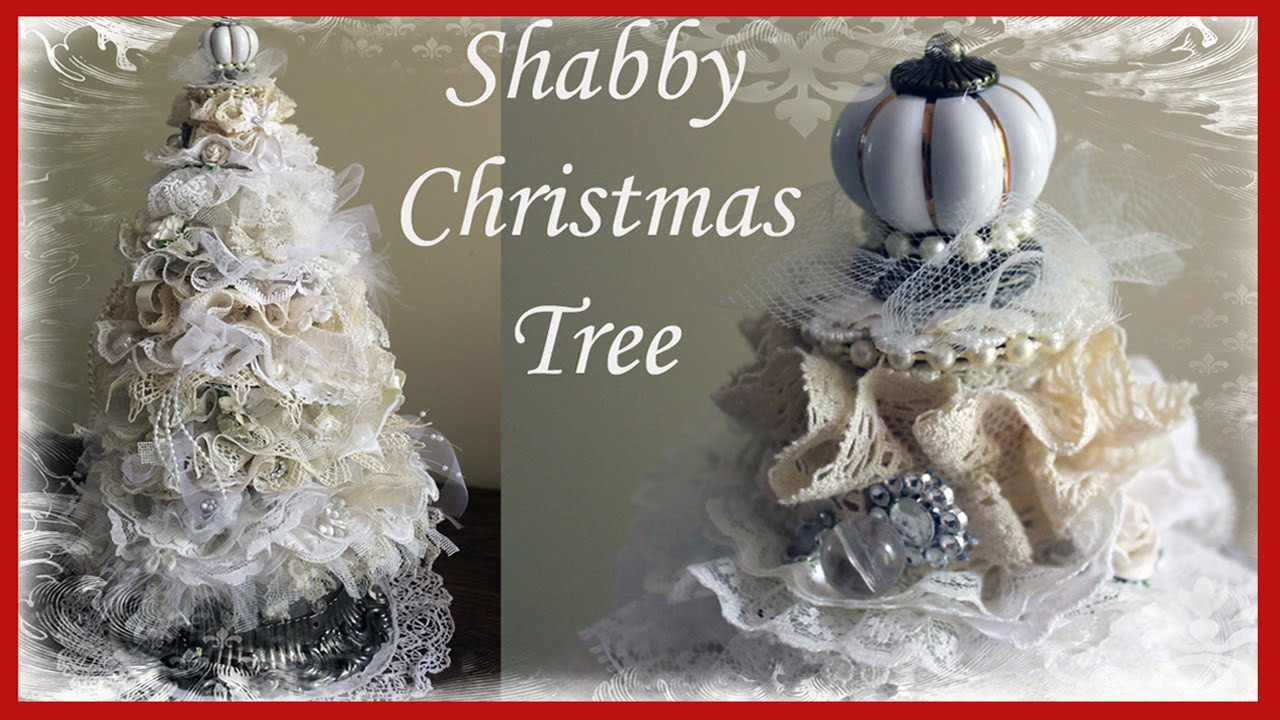 Best ideas about Shabby Chic Christmas Tree . Save or Pin Shabby Chic Christmas Tree Tutorial 1 Now.