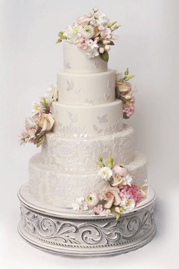 Best ideas about Shabby Chic Wedding Cake . Save or Pin Vintage wedding cake stand for shabby chic weddings size Now.