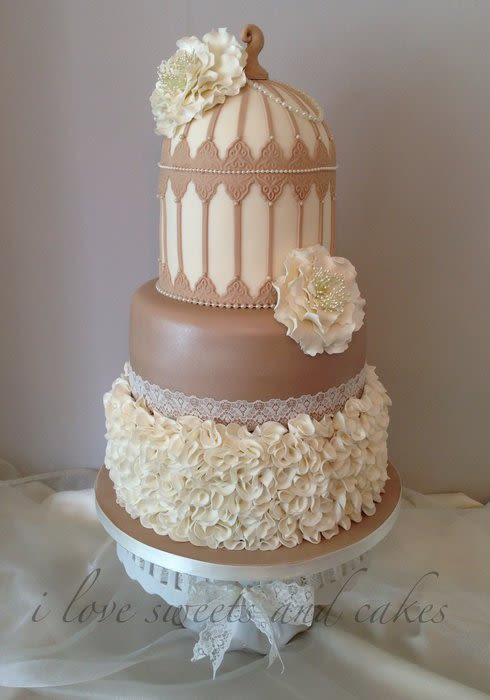Best ideas about Shabby Chic Wedding Cake . Save or Pin Shabby Chic Birdcage ruffle wedding cake cake by Vicki Now.