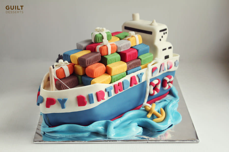 Best ideas about Ship Birthday Cake . Save or Pin Cargo Ship Birthday Cake Cake by Guilt Desserts CakesDecor Now.