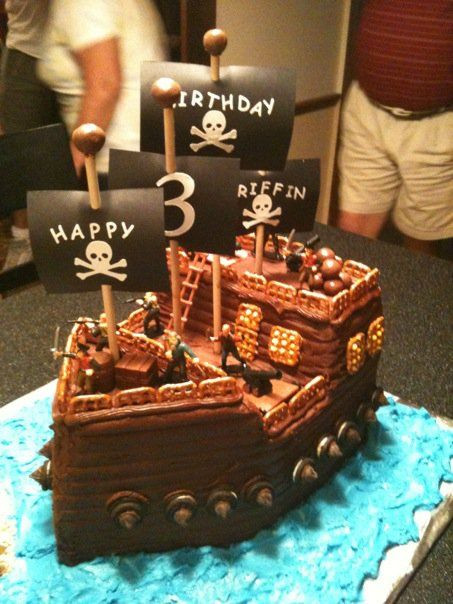 Best ideas about Ship Birthday Cake . Save or Pin pirate birthday cake Now.
