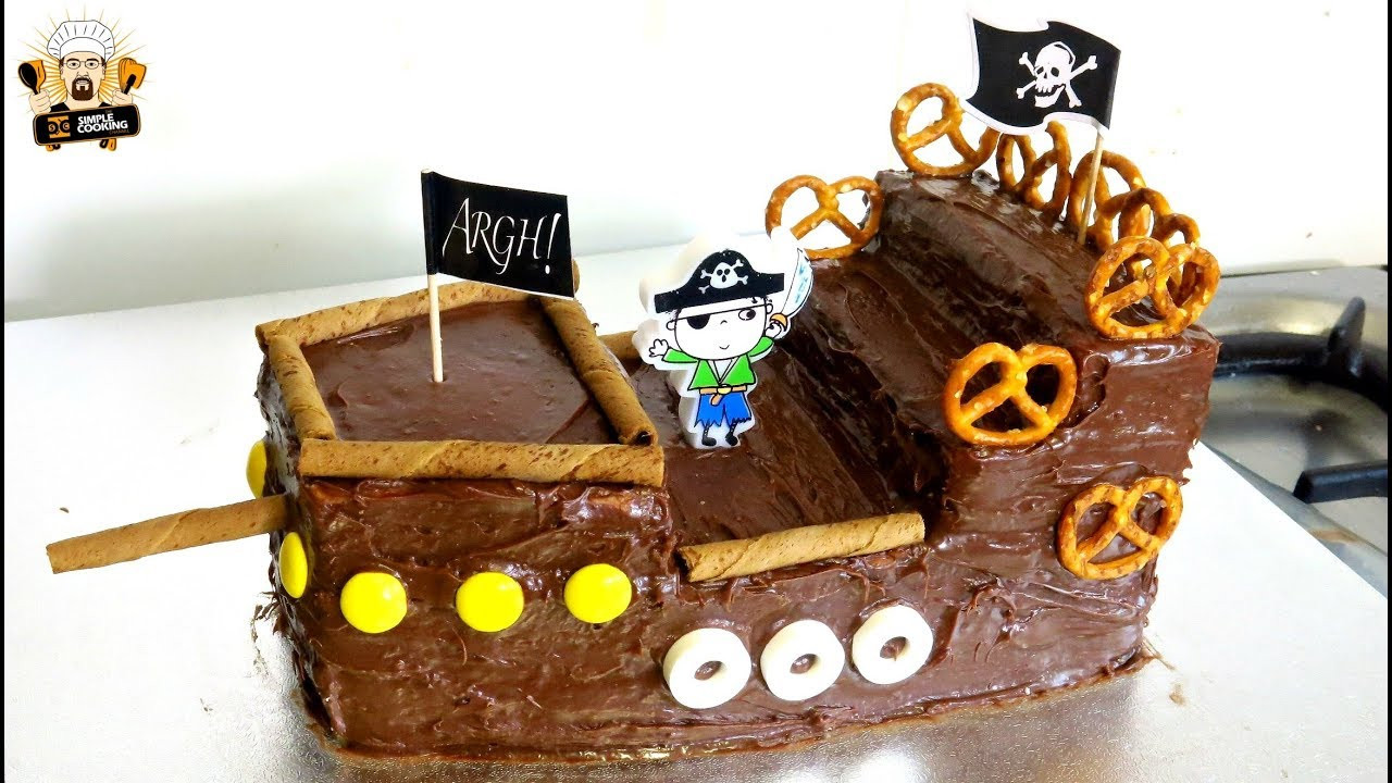 Best ideas about Ship Birthday Cake . Save or Pin HOW TO MAKE A PIRATE SHIP CAKE DIY KIDS BIRTHDAY PARTY Now.