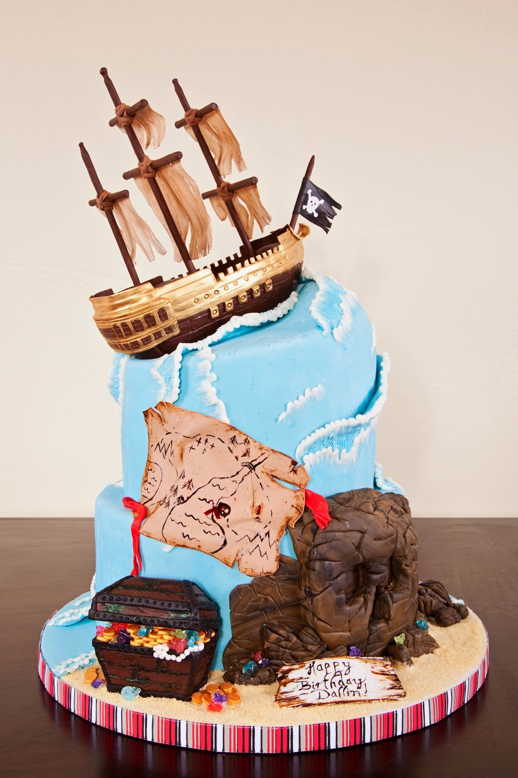 Best ideas about Ship Birthday Cake . Save or Pin Delectable Cakes Stormy Ocean Pirate Ship Birthday Cake Now.