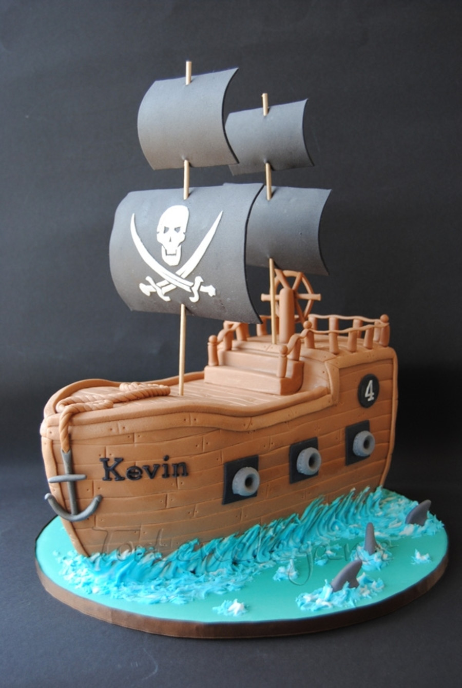 Best ideas about Ship Birthday Cake . Save or Pin Pirate Ship Cake CakeCentral Now.