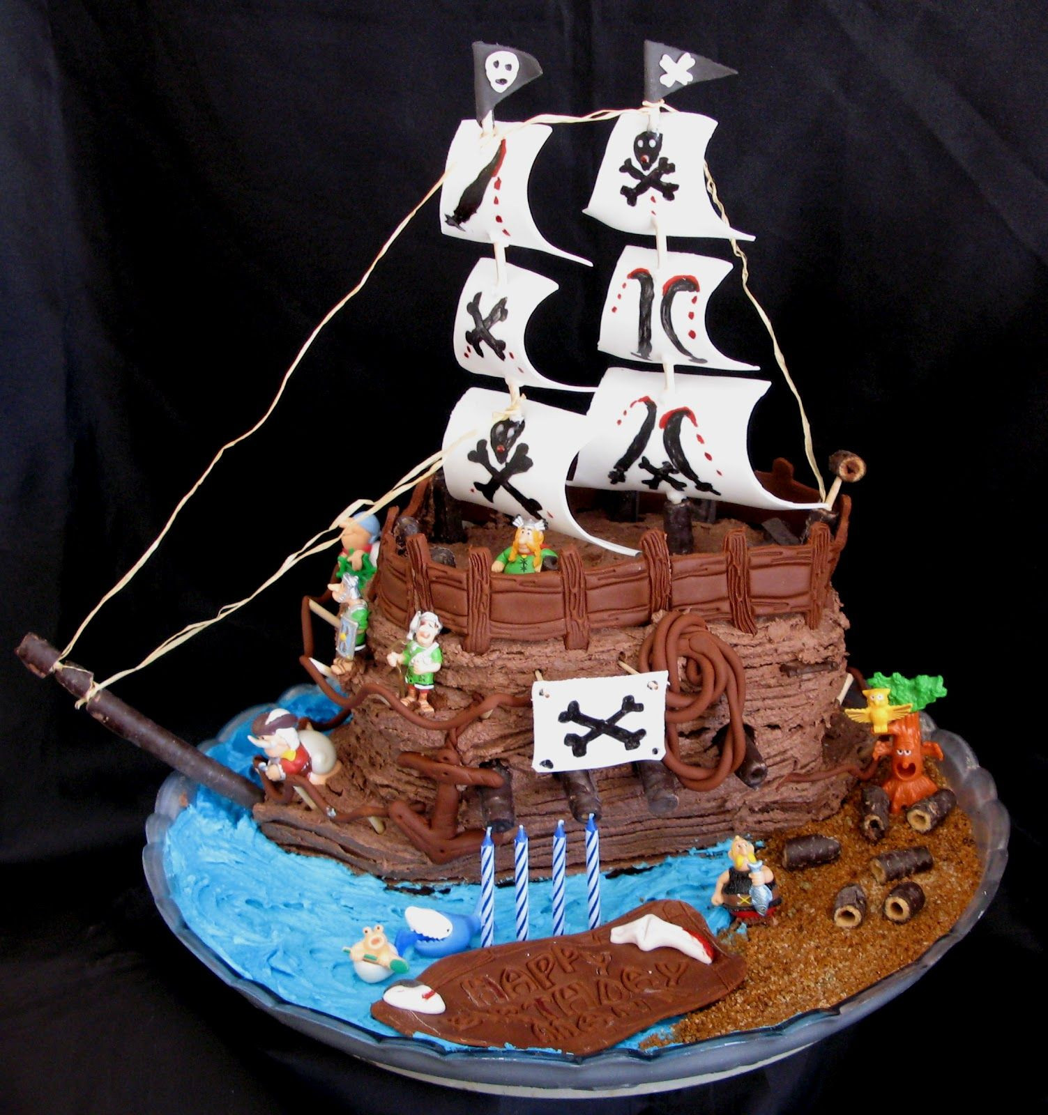 Best ideas about Ship Birthday Cake . Save or Pin Pirate ship cake with all the trimmings Now.