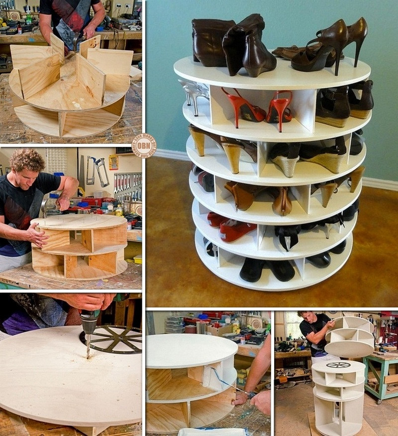 Best ideas about Shoe Storage DIY . Save or Pin DIY Lazy Susan Shoe Storage Now.