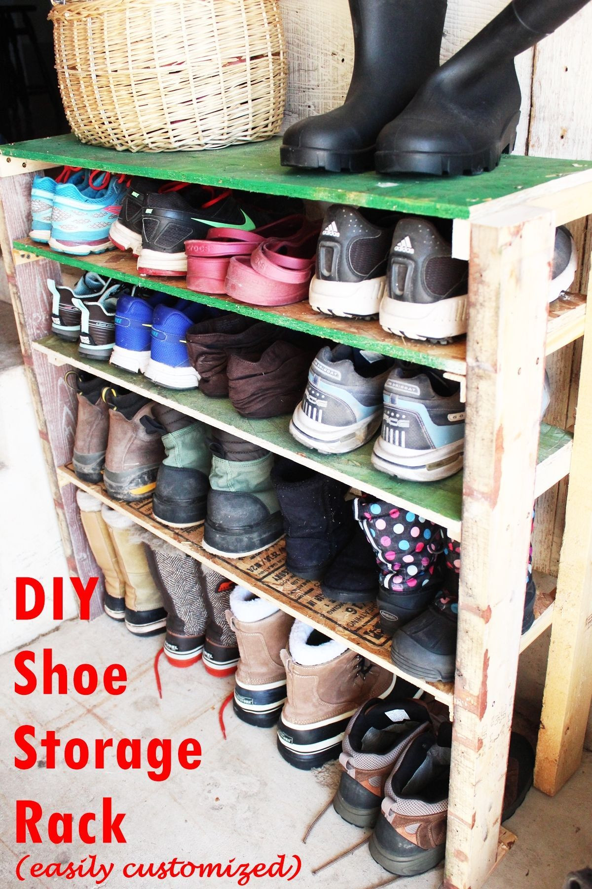 Best ideas about Shoe Storage DIY . Save or Pin DIY Shoe Storage Shelves for Garage An Easy Fast and Now.