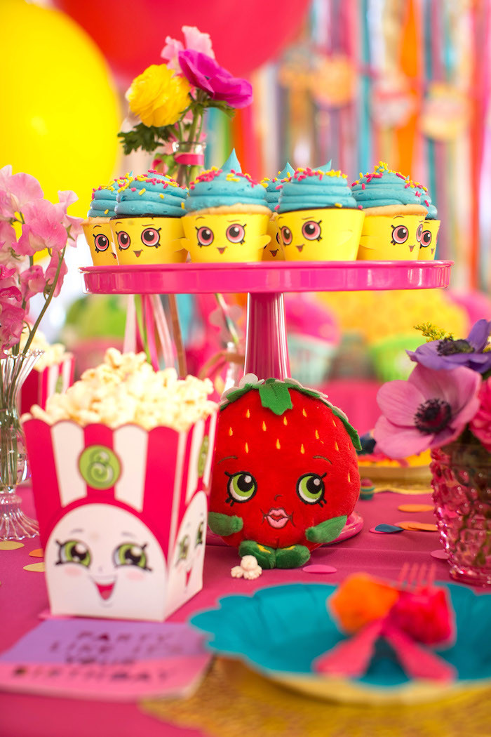 Best ideas about Shopkins Birthday Decorations . Save or Pin Kara s Party Ideas Floral Shopkins Birthday Party Now.