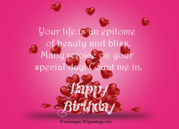 Best ideas about Short And Sweet Birthday Wishes . Save or Pin Birthday Wishes for Girlfriend 365greetings Now.