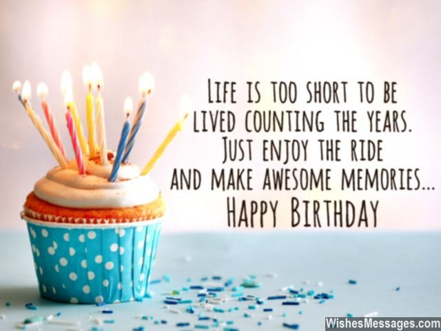 Best ideas about Short Birthday Quotes . Save or Pin 30th Birthday Wishes Quotes and Messages – WishesMessages Now.