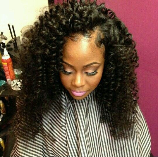 Best ideas about Short Curly Sew In Weave Hairstyles . Save or Pin Curly Side Part Sew In Hair Work 2 Now.