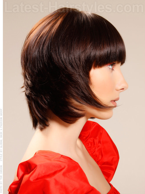 Best ideas about Short Fall Hairstyles . Save or Pin Brunette Brilliance Short Shiny Tapered Look Side View Now.