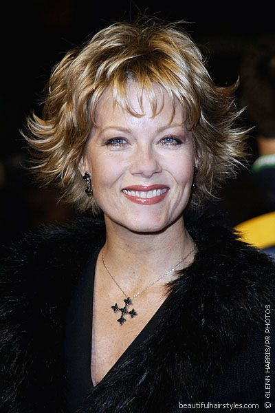 Best ideas about Short Flipped Hairstyle . Save or Pin Barbara Niven In Very Flippy Short Hairstyle With Bangs Now.