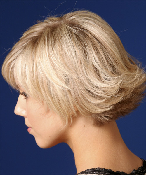 Best ideas about Short Flipped Hairstyle . Save or Pin Casual Short Straight Hairstyle Light Strawberry Blonde Now.