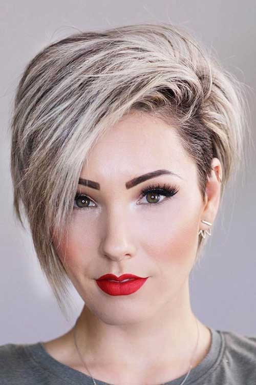 Best ideas about Short Haircuts For Round Faces . Save or Pin 35 Best Layered Short Haircuts for Round Face 2018 Now.