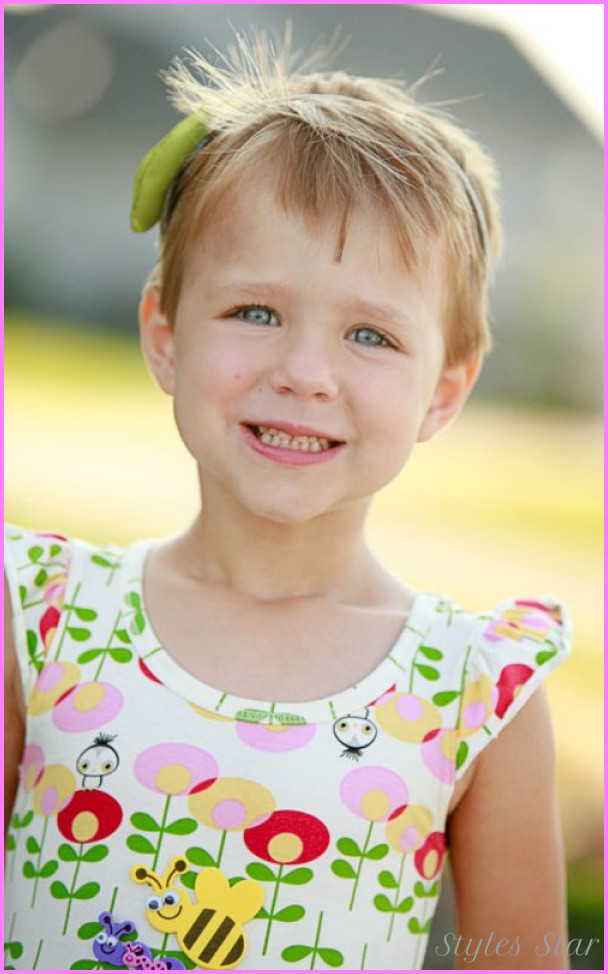 Best ideas about Short Hairstyles For Little Girls . Save or Pin Little girls short haircuts with bangs StylesStar Now.