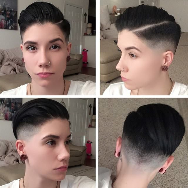 Best ideas about Short Lesbian Haircuts . Save or Pin All sizes girl haircut fade Now.