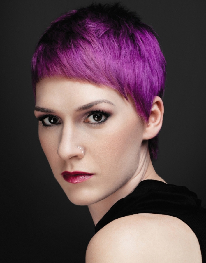 Best ideas about Short Purple Hairstyles . Save or Pin Short Hair Cuts and Color 2013 2014 Now.