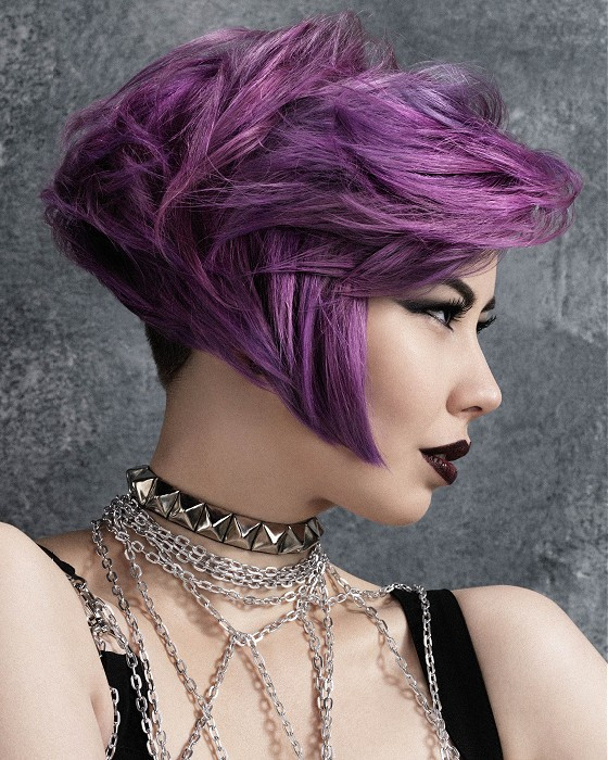 Best ideas about Short Purple Hairstyles . Save or Pin A Short Purple hairstyle From the Cult Couture Collection Now.